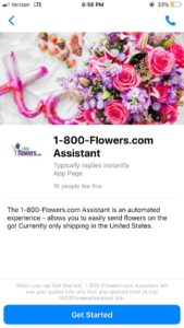 1800 flowers automated assistant chatbot
